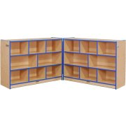 Color-Banded Youth Hinged Cubby Storage