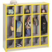 Color-Banded Preschool Lockers