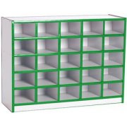 Color-Banded Youth Cubby Storage - 25 Cubbies