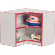Color-Banded Inside Corner Daycare Cubby Storage Unit