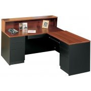 Milan L-Shaped Office Desk, Right