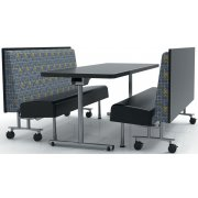Chariot Modern Mobile Cafeteria Diner Booth (42