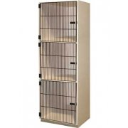 Instrument Locker - 3 Compartments, Grille Doors