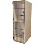 Instrument Locker - 2 Compartments, Grille Doors