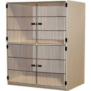 Instrument Locker - 2 XL Compartments, Grille Doors