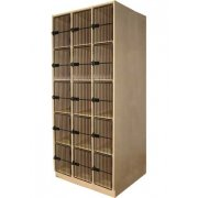 Instrument Locker - 15 Cubbies, Grille Doors