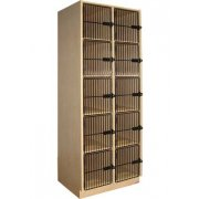 Instrument Locker - 10 Cubbies, Grille Doors