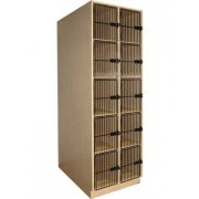 Instrument Locker - 10 Extra Deep Cubbies, Grille Doors