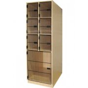 Instrument Locker- 6 Deep Cubbies, 1 Lg Cabinet, Grille Door