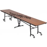 Stow-Away Mobile Rectangular Folding Table - 121