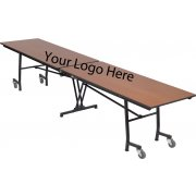"Stow-Away Mobile Rectangular Folding Table - 97""x30"""
