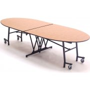 Stow-Away Mobile Oval Table (121