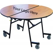 Stow-Away Mobile Round Folding Table - 60""