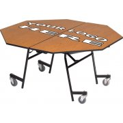Stow-Away Mobile Octagon Folding Table - 60x60""