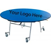 "Stow-Away Mobile Oval Folding Table - 72""x60"""