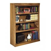 Traditional Oak Veneer Bookcase (3'Wx4'H)