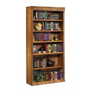 Traditional Oak Veneer Bookcase (3'Wx6'H)