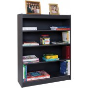 Reinforced Shelf Gray Laminate Bookcase w/5 Shelves (72