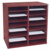 16-Compartment Literature Organizer