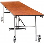 NPS Folding Cafeteria Table - MDF, ProtectEdge, Chrome (8'L)