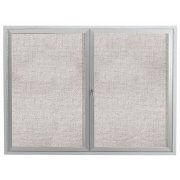 Weatherproof Illuminated Vinyl Tack Board 2-Door (5x4')