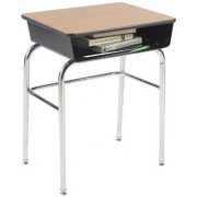 Premium Open Front School Desk - Laminate Top, U Brace