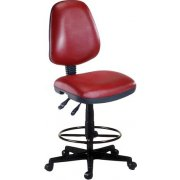 OFM Vinyl Swivel Stool