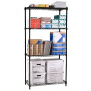 Industrial Metal Wire Shelving - 4 Shelves, 36