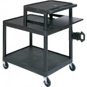 Endura AV Cart with Work Surface & Keyboard Shelf