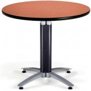 Round Cafe Table with Mesh Base Dining Height (36