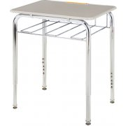 Adjustable Height Open View School Desk - Hard Plastic Top