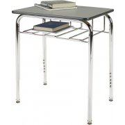 Adj. Height Open View School Desk - Laminate Top, U Brace