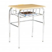 Open View Desk w/Hard-Plastic Top U-Brace Adj Ht