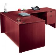 Laminate L-Shaped Office Desk with 1 Pedestal (66x30)