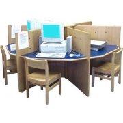 Hexagon Library Computer Table (94