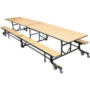 Mobile Cafeteria Bench Table (10'L)