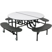 PMH Easy-Fold Round Cafeteria Table (60