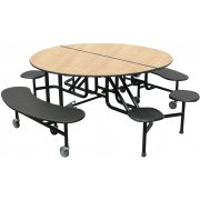 PMH Round Cafeteria Table - Benches and Stools (60