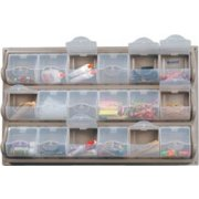 Wall-Mounted Classroom Art Supply Storage - 12 Panel Bins