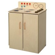 WD Wooden Play Kitchen Stove with Tip-Not Doors