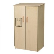 WD Wooden Play Kitchen Refrigerator with Tip-Not Doors