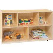 Wooden Classroom Cubby Storage - 5 Section (48