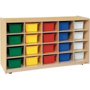 20-Tray Storage with Colored Trays