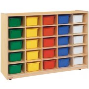 25-Tray Storage with Colored Trays