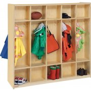 Double-Sided Wood Preschool Locker - 10-Section