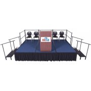Portable Stage Set Carpeted (384 x 144 x 24