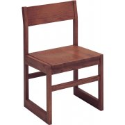 Integra Wood Library Chair (Angled Back)