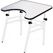 Adjustable Wheelchair Accessible Drafting Table - Folding