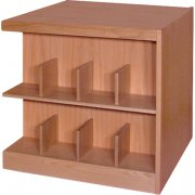 Book Shelving - 4 Shelf Double Faced Adder