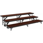 3-Level, Choral Riser Set, Carpeted (24